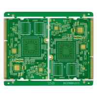 Multilayer pcb manufacturer supply PCB 10L AI control PCB with gold fingers